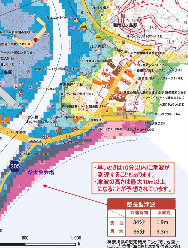 藤沢市津波ハザードマップ_大会